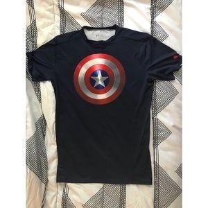 393fda69 Women Under Armour Captain America Shirt on Poshmark
